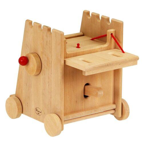 ERST-HOLZ Spielwelt »931-1001«, Ritterspielzeug großer Belagerungsturm Rammbock für Drewart Ritterburg Burg aus Holz Holzspielzeug 931-1001