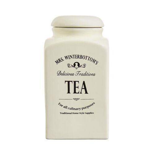 BUTLERS Teedose »MRS. WINTERBOTTOM'S Teedose 1,3 l«, Teedose 1,3 l - Creme Dose aus Steingut