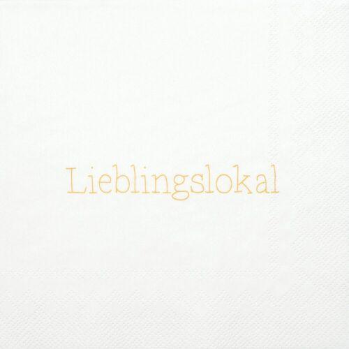 """Räder Design Papierserviette »Serviette """"Lieblingslokal""""«"""