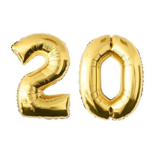 MyBeautyworld24 Folienballon »Folienballon Zahlenballon in der Farbe gold Heliumballon Riesenzahl Geburtstag Deko Höhe 100 cm« 20;30;40;50;60;70;80;90