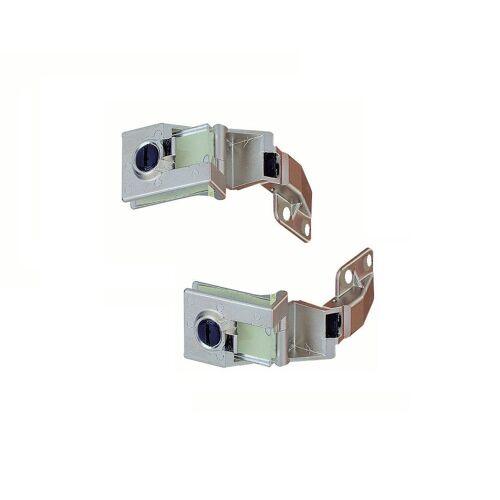 Hettich Möbelbeschlag »Glastürscharnier Zinkdruckguss Scharnier Paar für Glastür aufliegend«