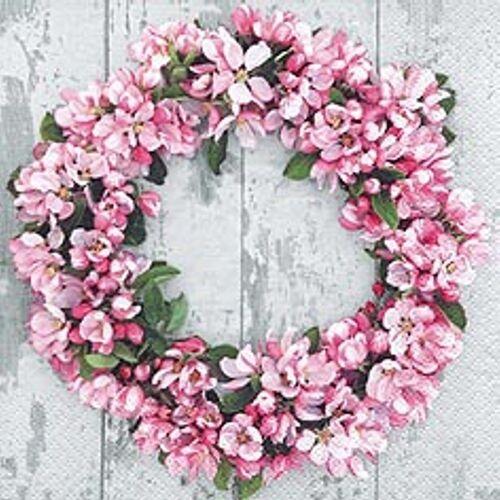 Linoows Papierserviette »20 Servietten, Romantischer Blumenkranz aus Apfelb«, Motiv Romantischer Blumenkranz aus Apfelblüten