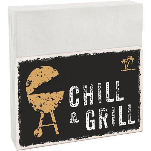 """Contento Serviettenhalter »Serviettenhalter Easy """"Chill & Grill"""" inkl. 50«"""