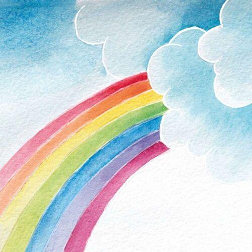 Linoows Papierserviette »20 Servietten, Regenbogen in Pastell, Künstler«, Motiv Regenbogen in Pastell