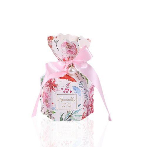 kueatily Geschenkbox »Hochzeit Candy Box, 50 Stück Geschenkbox, Schokolade Geschenkbox, kleine Schmuck Geschenkbox, Hochzeit Candy Boxen für Hochzeitstag Jubiläum«, Rosa