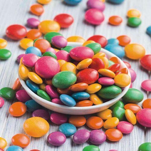 Linoows Papierserviette »20 Servietten Kinderfeier, Teller voller Bunter«, Motiv Kinderfeier, Teller voller Bunter Bonbons