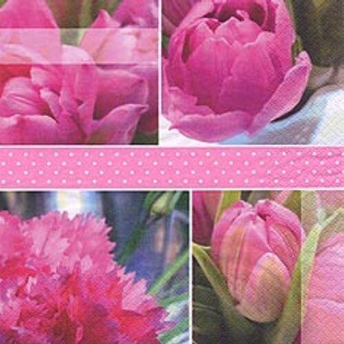 Linoows Papierserviette »20 Servietten, Atemberaubend, Rosentulpen die«, Motiv Rosentulpen die Königs Tulpen