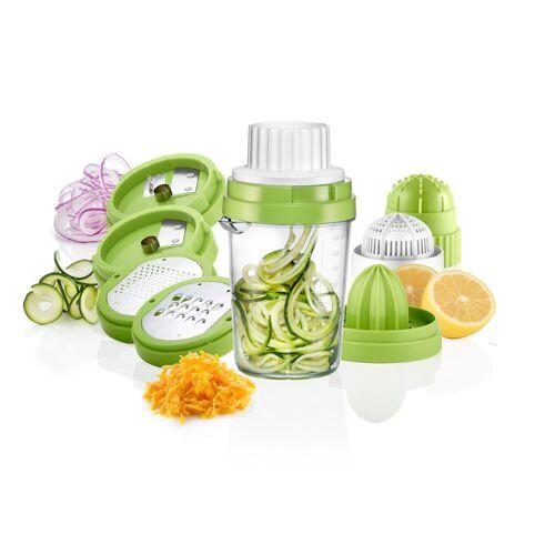 PRECORN Spiralschneider »8 in 1 Spiralschneider Gemüseschneider Gemüsehobel mit Zitronenpresse Handpresse Zitruspresse für Zitronen Orangen«, (8-tlg)