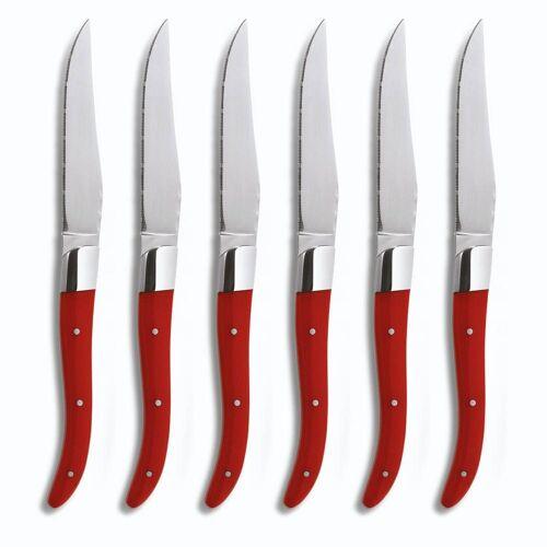 comas Steakmesser »ACR Red« (6 Stück), spülmaschinengeeignet