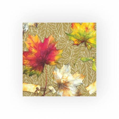 IHR Papierserviette »Herbstlaub«, (5 St), 33 cm x 33 cm