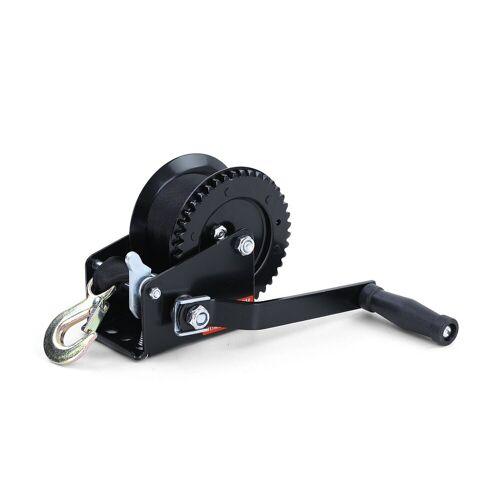 RAMROXX Seilwinde »Profi Seilwinde Handwinde Schwarz mit Gurtband 600kg 8 Meter«