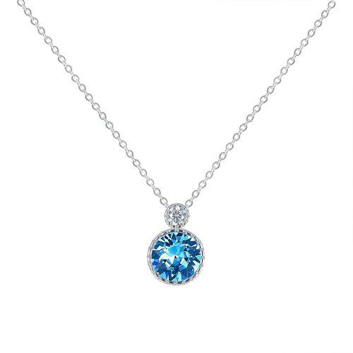 Msova Schmuckset »Blaue Kristallkette 925 Silber NS2521«, Blau