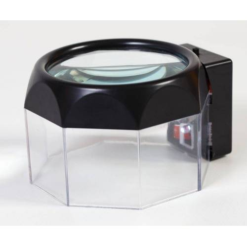 dynamic24 Leuchtlupe, Leselupe mit LED Licht Lesehilfe 2 fach Vergrößerung Lupe Leuchtlupe Handlupe