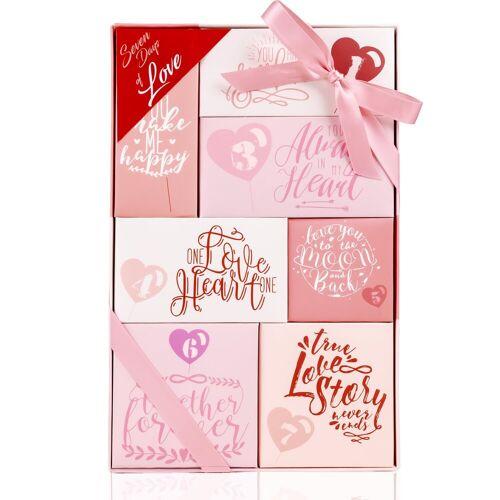 """ACCENTRA Wellness-Pflegeset »Geschenkset für Frauen Cosmetics Wellness Bade Dusch und Beauty Kalender """"7 Days of Love"""" für Frauen, Damen und Mädchen«"""