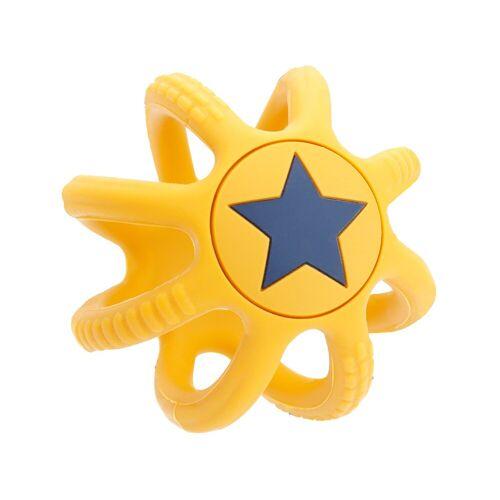 BIECO Beißring »Beißring Baby Gelb, Ø 7 cm aus Silikon Stressball zum Kneten Greifball Für Babys Beissring Für Baby Zum Zahnen Motorikspielzeug Baby Ball Kinder Knetball für Hände Therapie«