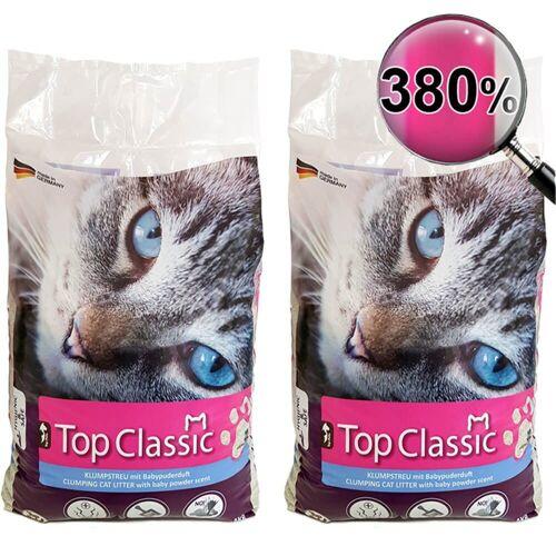 Top Pet Katzenstreu »Katzenstreu Klumpstreu mit Babypuderduft Streu staubarm 2 x 14 kg«