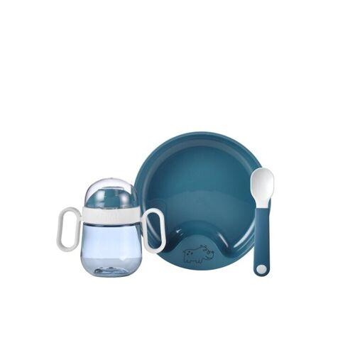 Mepal Kindergeschirr-Set »Geschirr Set Set Babygeschirr Mio 3-teilig« (3-tlg), Kunststoff, Deep Blue