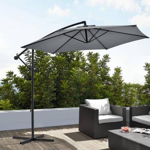 casa.pro Sonnenschutz, , blickdicht, Ampelschirm Sonnenschirm mit Schirmständer 270cm