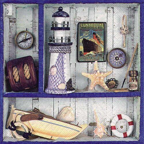 Linoows Papierserviette »20 Servietten Maritim, Schaukasten Maritime Kleino«, Motiv Maritim, Schaukasten Maritime Kleinode
