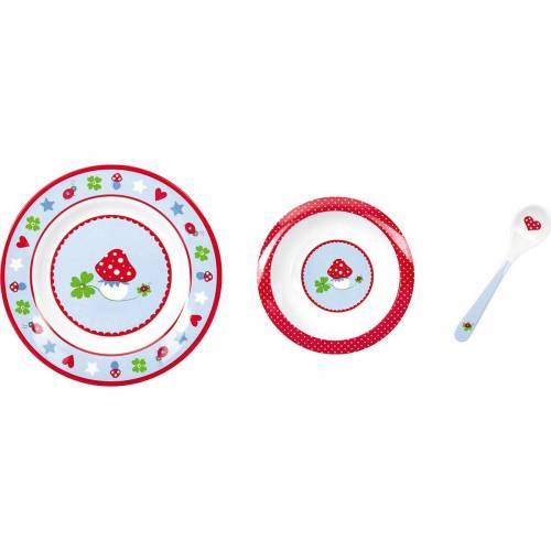 Spiegelburg Kindergeschirr-Set »BabyGlück: Mein erstes Geschirr, hellblau«