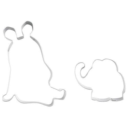 Dr. Oetker Ausstechform »Ausstechformen Ausstecher 2er Set Die Maus und Elefant 2939«