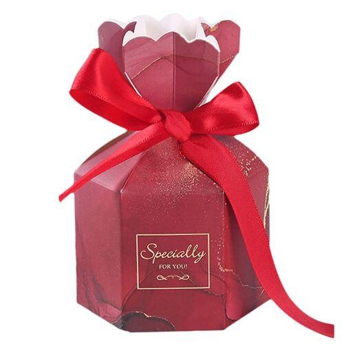 kueatily Geschenkbox »Hochzeit Candy Box, 50 Stück Geschenkbox, Schokolade Geschenkbox, kleine Schmuck Geschenkbox, Hochzeit Candy Boxen für Hochzeitstag Jubiläum«, rot