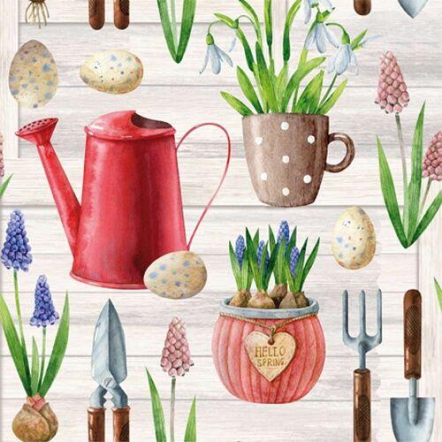 Linoows Papierserviette »20 Servietten, Frühling, Frühjahrserwachen im«, Motiv Hallo Frühling