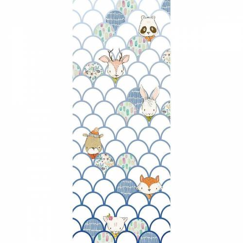 Komar Fototapete »Vlies Fototapete Animals A-Z, Panel, 100 x 250 cm«, weiß Modell 1
