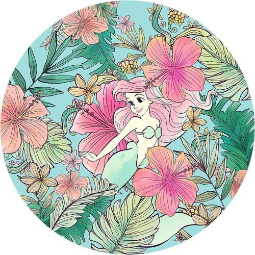 "Komar Fototapete »Vlies Fototapete ""Ariel Ocean Flowers"" - Ø 125 cm«"