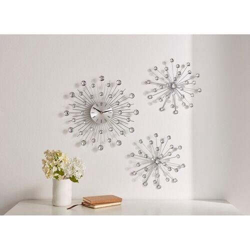 HomeLiving Uhr »Kristallblüte«