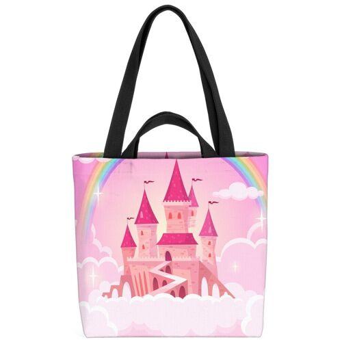 VOID Strandtasche (1-tlg), Traumschloss Prinzessin Traumschloss Prinzessin Schloss Rosa Mädchen