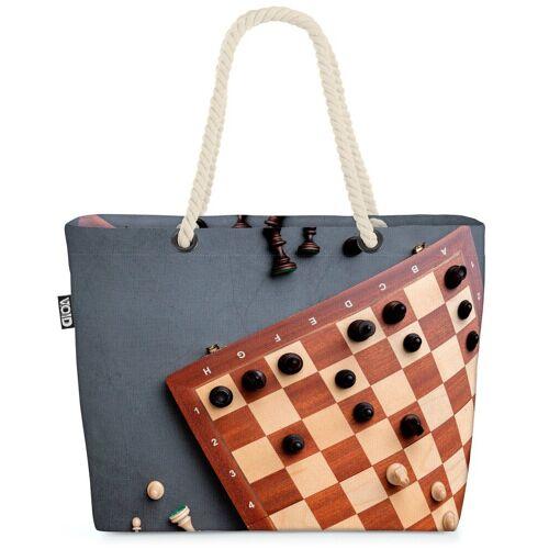 VOID Strandtasche (1-tlg), Schach Spiel Brett Schach Spiel Brett Schachspiel Schachbrett Figuren