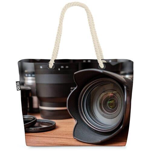 VOID Strandtasche (1-tlg), Kamera Optik Linse Fotografie Fotograf Fotoapparat Kamera Kameralinse
