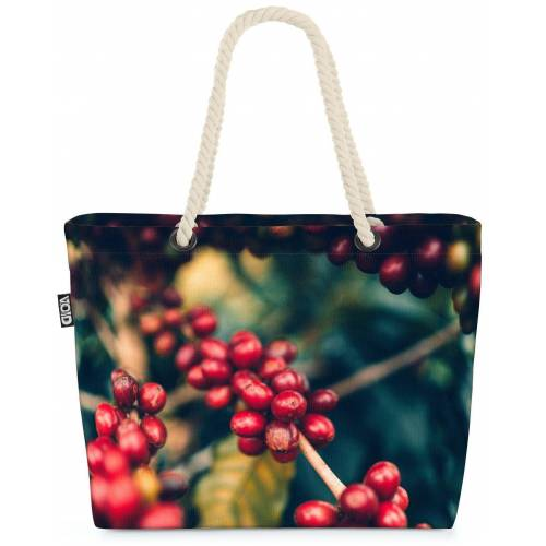 VOID Strandtasche (1-tlg), Kaffeebohnen Kaffeepflanze Kaffee Kaffeebohnen Pflanze Tasse Kaffee R
