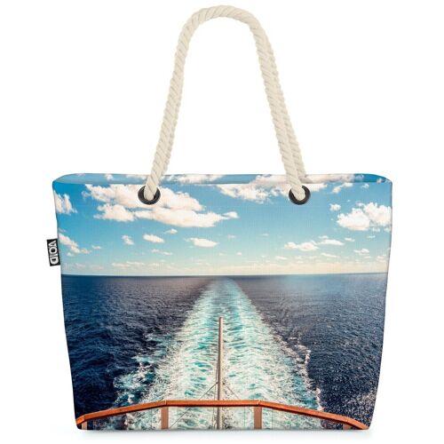 VOID Strandtasche (1-tlg), Urlaub Kreuzfahrt Meer Urlaub Kreuzfahrt Meer Kreuzfahrtschiff Reisen