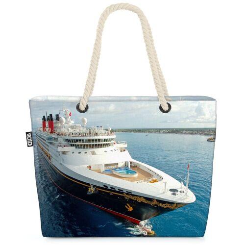 VOID Strandtasche (1-tlg), Kreuzfahrt Reise Beach Bag Schiff Kreuzfahrt Kreuzfahrtreise Reise Boot Urlaub