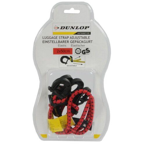 Dunlop »Einstellbarer Gepäckgurt 2x 50cm« Gepäck-Halterung, (2-tlg)