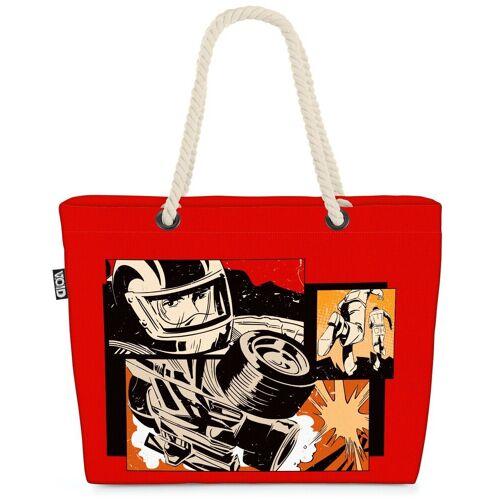 VOID Strandtasche (1-tlg), Comic Rennsport Pop Art Comic Rennsport Pop Art Pop Art Superheld Her
