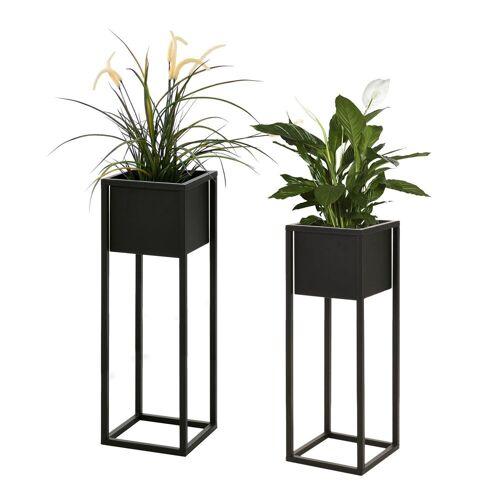 Wohaga Blumenständer »2tlg Blumenständer-Set Metall H70/60cm«