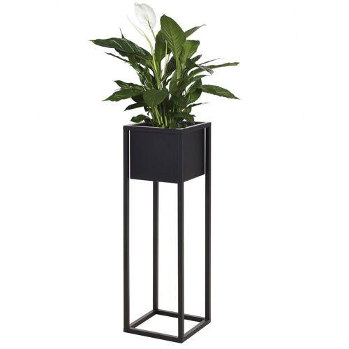 Multistore 2002 Übertopf »Blumentopfständer 21x21xH70cm Schwarz«