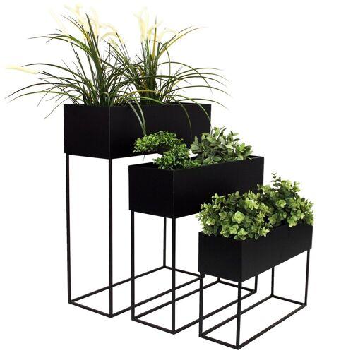 Wohaga Blumenständer »3tlg Blumenständer-Set Metall H70/60/50cm«