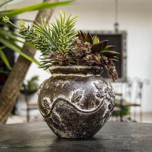 mitienda Blumentopf »Blumentopf aus Ton, Blumen«