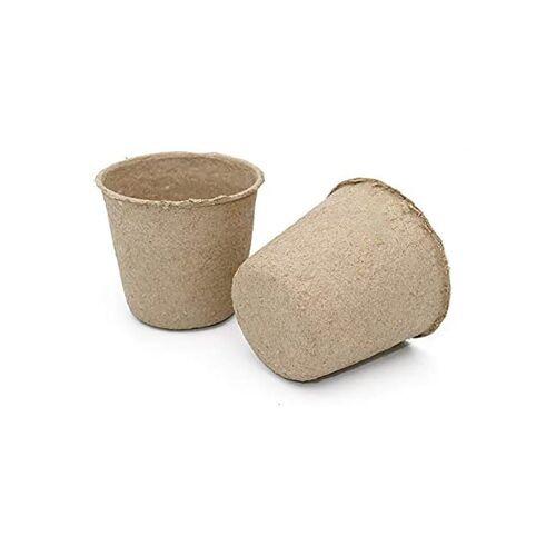 kueatily Blumentopf »100 abbaubaren Saattöpfen, kleine runde Fasertöpfe« Ø 8 cm;Ø 6 cm