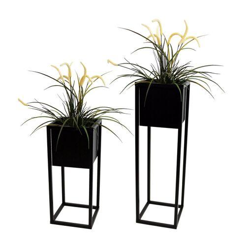 Wohaga Blumenständer »2tlg Blumenständer-Set Metall H70/50cm«