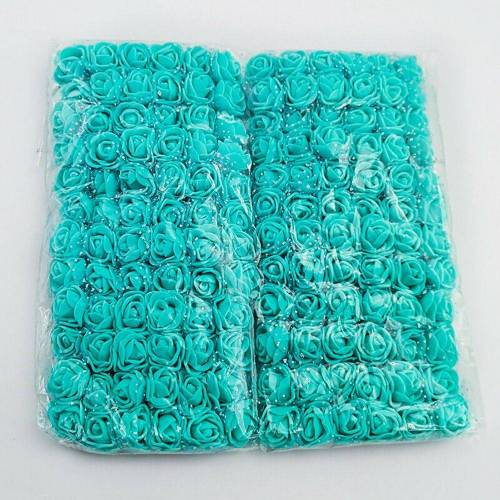 Baesset Kunstblume »144 Stück 2.5cm Schaum Künstliche Rosen Kunstblumen Blumen Kunstblume Hochzeit DIY Bär Deko«, , Blau