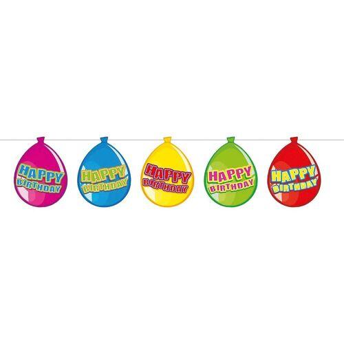 Folat Kunstgirlande »Wimpelgirlande Ballon Happy Birthday, 10 m«,