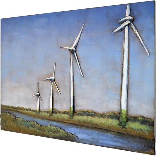 MÖBEL IDEAL Metallbild »Windmühlen«, Windmühlen