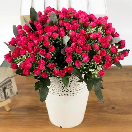 Baesset Kunstblume »25cm Künstliche Rose Blumen 28 Köpfe Kunstblume Blumenstrauß Hochzeit Deko«, , Rot