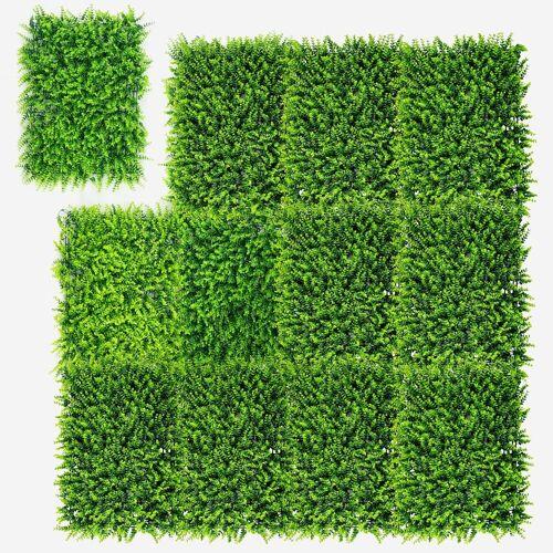 COSTWAY Kunstpflanze »12Stk. Künstliches Pflanzenwand, Heckenpflanze«, , für Garten Dekor, 60x40cm 40 cm x 60 cm;50 cm x 50 cm