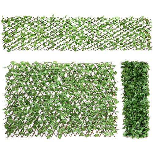 COSTWAY Kunstpflanze »Künstliches Pflanzenwand, Heckenpflanze«, , für Garten Dekor, 29x127cm/255x79cm